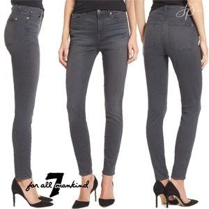 7FAM High waist skinny ankle jeans 31 gray D19